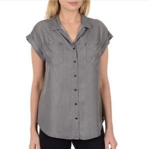 Jachs Girlfriend Gray Chambray Button Down XL